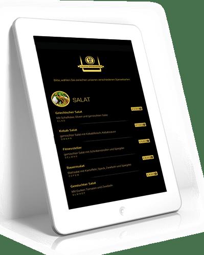 Digitale Speisekarte für Restaurants ab 850