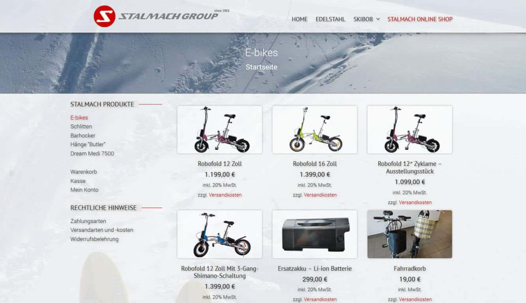 Stalmach Group Online Shop
