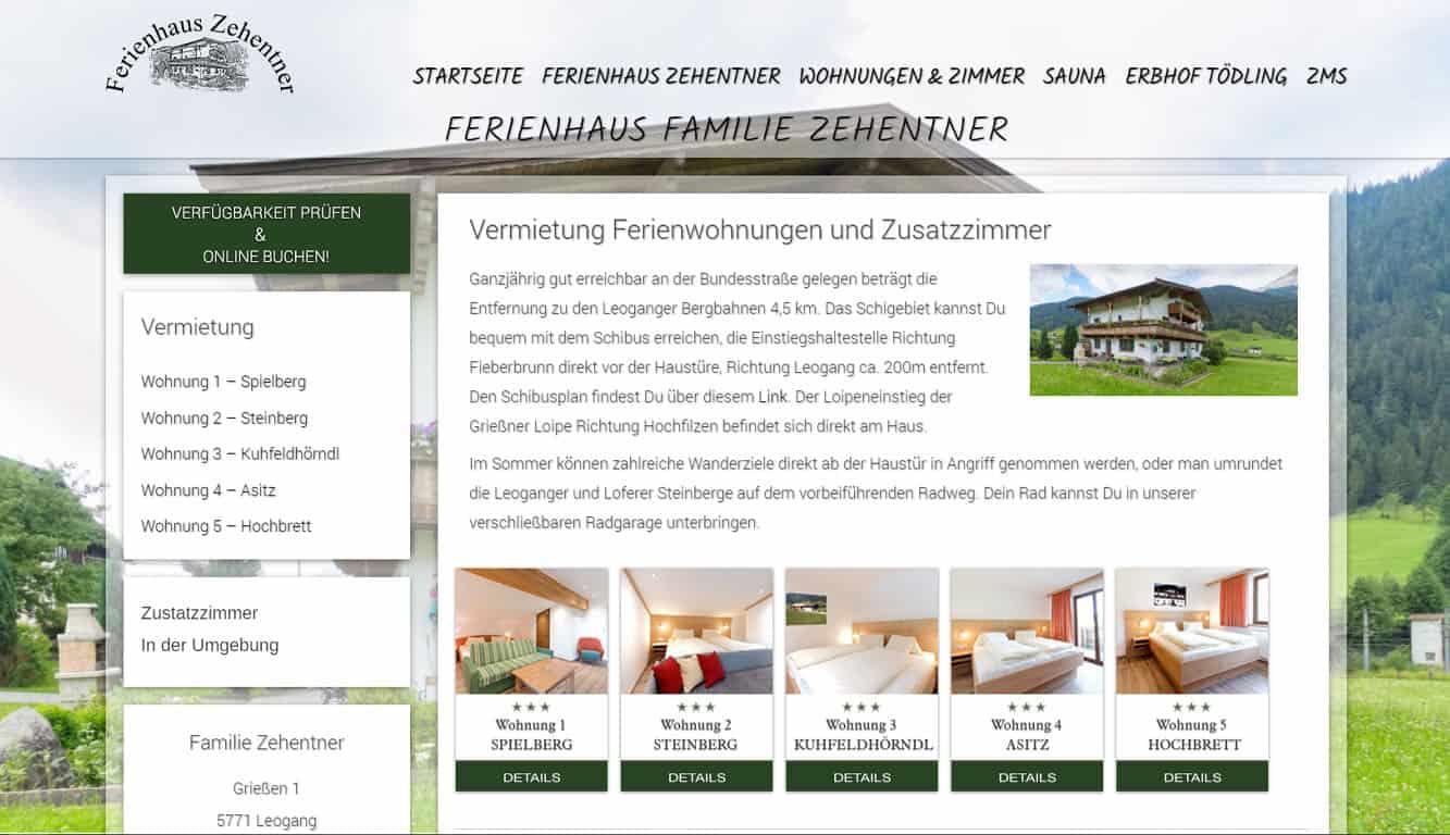 Familie Zehentner Leogang