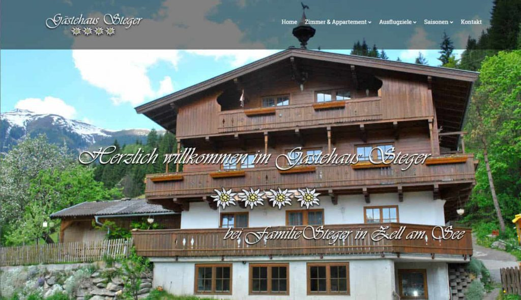 Website Haus steger