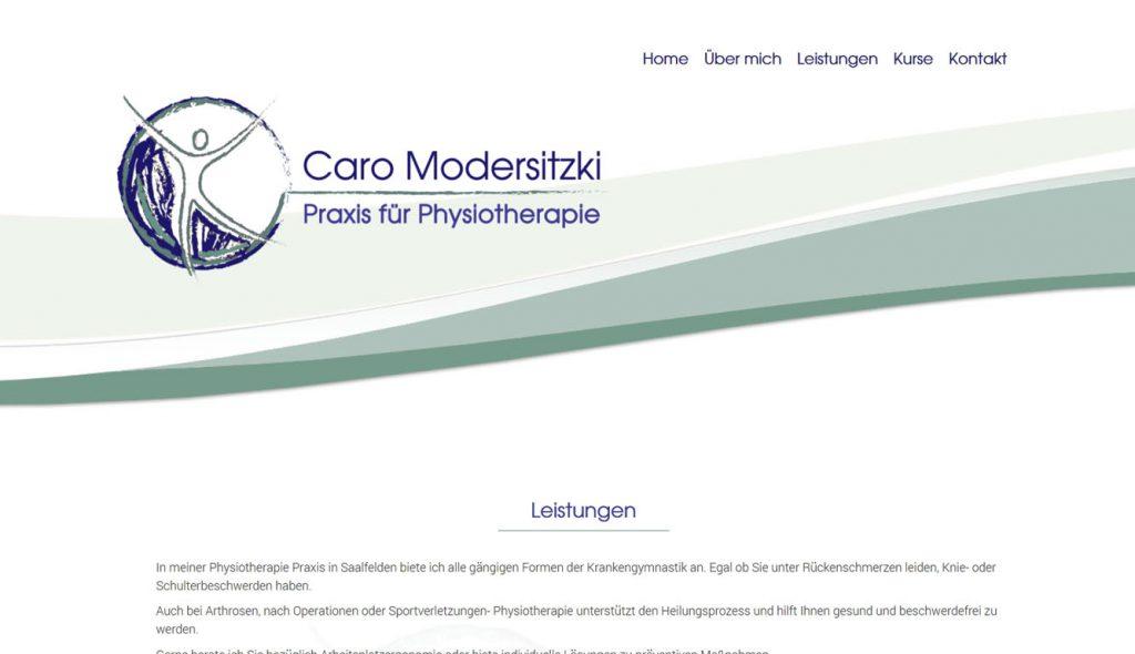 Caro Modersitzki Pfysiotherapie